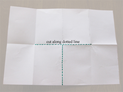 Where to cut the folded paper