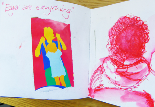 Linda Gomez - Teacher using a Sketchbook