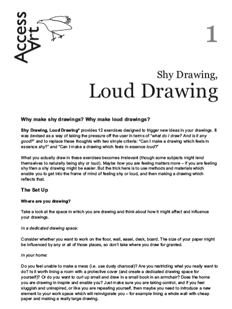 Shy Drawing, Loud Drawing PDF Download