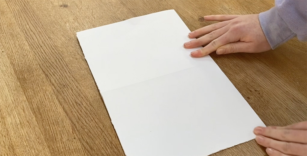 Making a simple folded sketchbook