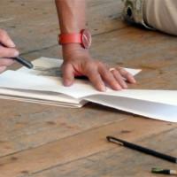 Simple Folded Sketchbook