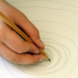 Encourages drawing action from the wrist to the shoulder to the whole body...