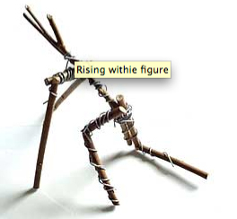 Introducing withies (willow sticks) - an excellent material with whcih to make sculpture.