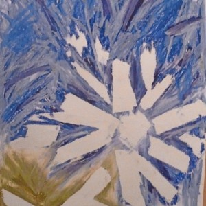Dahlia with pastel