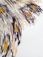 Oil pastel, graphite
