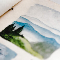 Let's think creatively about how we can display our sketchbooks to inspire others
