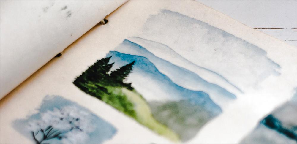 displaying sketchbooks
