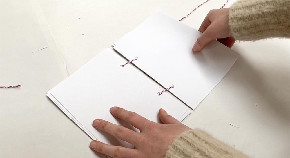 Making a hole punch sketchbook