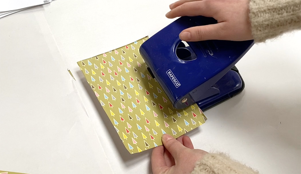 Making a hole punch sketchbook