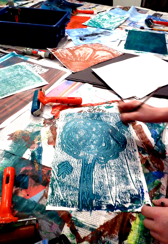 Monoprint Ideas Using Monoprinting To Free Up The
