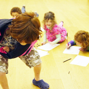 An exciting resource using life drawings to create cartoon characters. Young children choose dressing up clothes and then model for each other in brief, energetic poses that challenge the observational, drawing and mark making skills of the class. The life drawings are then developed using the children's imagination into cartoon characters.