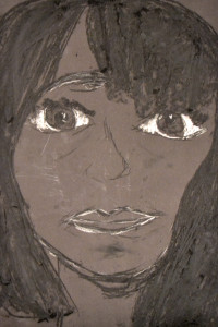 Compressed charcoal and chalk portrait by Daisy - A1