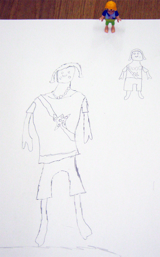 Sketch of Playmobil