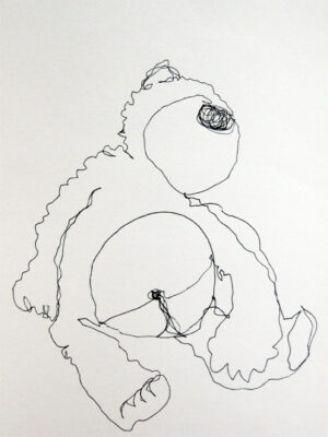 Continuous line drawing of a ted