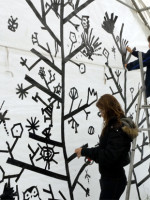 Drawing with Tape on walls