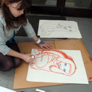 This workshop encourages students to challenge pre-conceived ideas of what a drawing should be or what finished drawings should look like.  By making drawings of each other they can experiment with line and expression, inspired by the working practice of Henri Marisse, who often drew an object or life pose many times in succession.