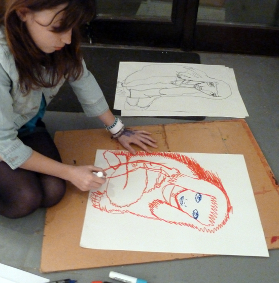 This workshop encourages students to challenge pre-conceived ideas of what a drawing should be or what finished drawings should look like. By making drawings of each other they can experiment with line and expression, inspired by the working practice of Henri Matisse, who often drew an object or life pose many times in succession.