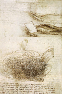 Drawing Pouring Water Inspired by Leonard Da Vinci