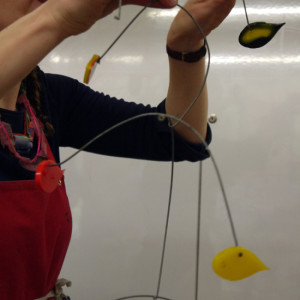 Making kinetic mobiles using thermoplastic moulding techniques