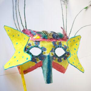 Making a carnival mask