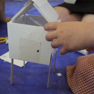 "If you're looking for a sculptural project which will give children an introduction to architecture, and the opportunity to explore space and structure and interior and exterior, then you'll like this idea. The key to these sessions is to keep the materials and techniques simple and effective – for example make sure the materials are easy to cut and easy to join together – so that the making inspires, not blocks, the imagination of the children. [themify_button style=""xlarge block"" link=""https://www.accessart.org.uk/be-an-architect-new-for-summer-2012/"" color=""#78608e"" text=""#ffffff""]Read More[/themify_button]"