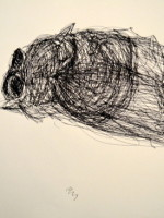 Insect in pen in continuous line