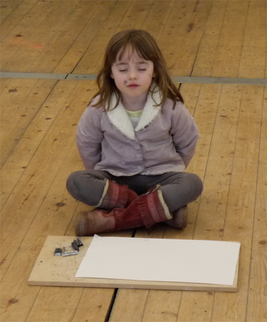 This short icebreaker or warm up exercise, led by Paula Briggs at the Drawing Workshops for ages 6 to 10, encourages the children to relax into their drawing session.