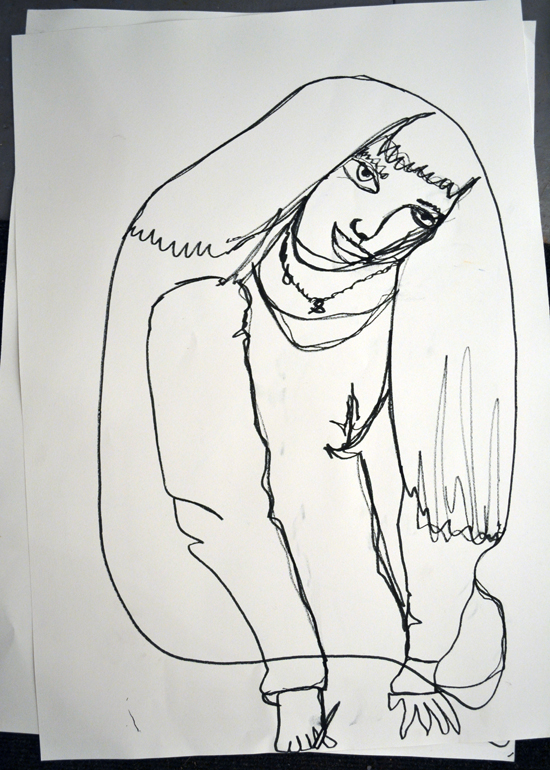 A resource based on the working process of Henri Matisse, who drew the same subject many times.  Using a variety of media to create strong, bold lines, students are challenged to make multiple, large scale drawings of each other.  By drawing their partner repeatedly, they gain an understanding of the pose and become more familiar with their subject.