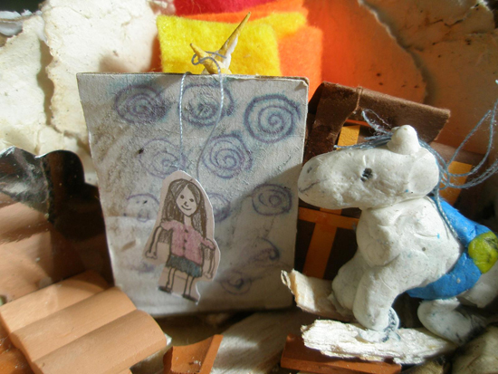 Creating worlds within boxes using found toys and other recycled objects. Be inspired by ten year old Ciara Lucking.