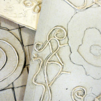 Leave the collagraph plates to dry overnight