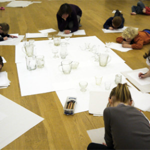 This resource encourages children to tackle foreshortening and aerial perspective by drawing on tracing paper from a still life of translucent glass.