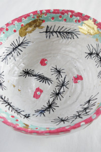 Decorated (Christmas) bowl