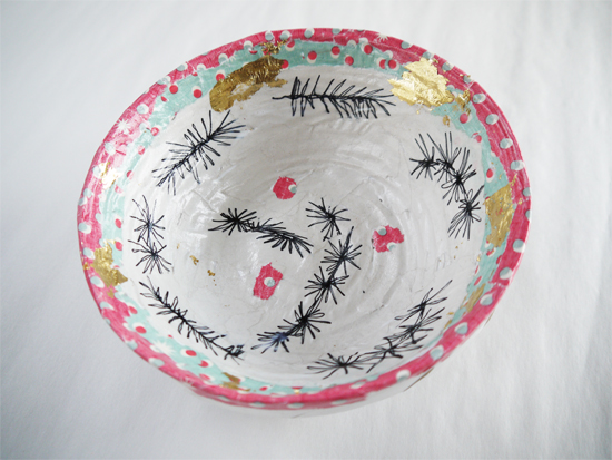 Decorated Paper bowls: Decorated (Christmas) bowl