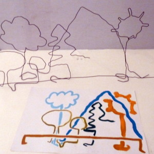 Teenagers are introduced to modelling wire and modroc as construction materials and use the theme of landscape to explore drawing and making simultaneously.