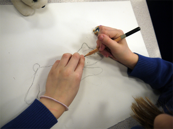 """Dealing with a """"tricky area"""" by covering it with a small patch of paper and re-seeing it..."""