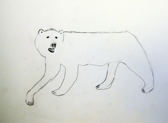 After school art club: Backwards forward sketch with a soft pencil