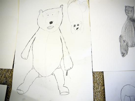 Backwards forward sketch with a soft pencil