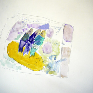 Using collage and mark-making to develop fish studies into highly personal drawings.