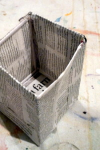 Mia's final enclosed space: Newspaper and art straws