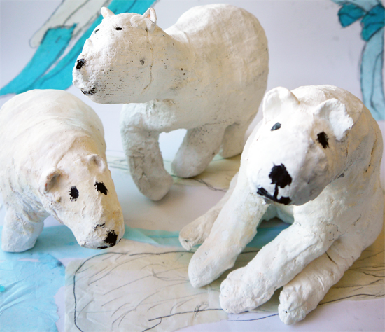 After school art club: Polar bears at Bourn Primary Academy