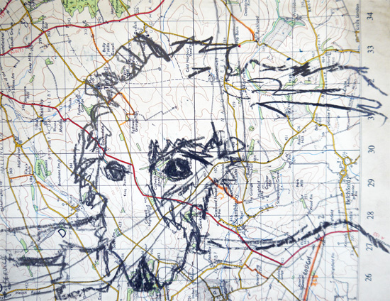 Drawing exercise: drawing over maps