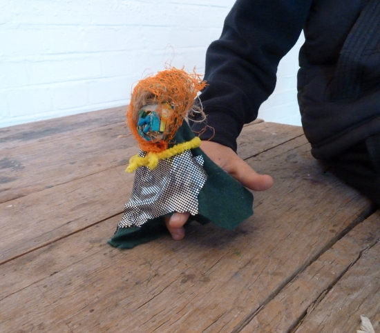 Create a hand or finger puppet in a fun workshop that encourages teenagers in a playful, child-like sense of making and exploration of materials. An activity that can be adapted for all ages.