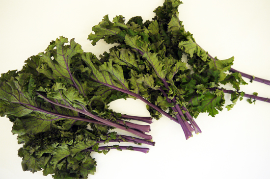 "Curly kale as ""gloomy"" subject matter!"