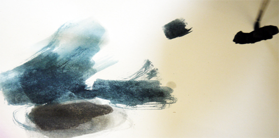 watercolur washes: restricting the watercolour palette, but exploring tonal variation