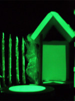 Glow in the dark architectural maquette