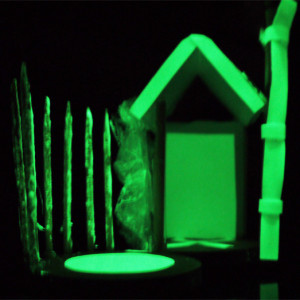 A project using a mix of traditional and smart materials to construct architectural models. The children designed imagined, habitable spaces that glowed in the dark! By Paula Briggs director of AccessArt and author of Build, Make, Create (Black Dog Publishing).