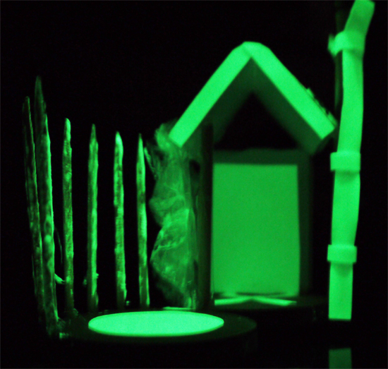architectural models: glow in the dark maquette