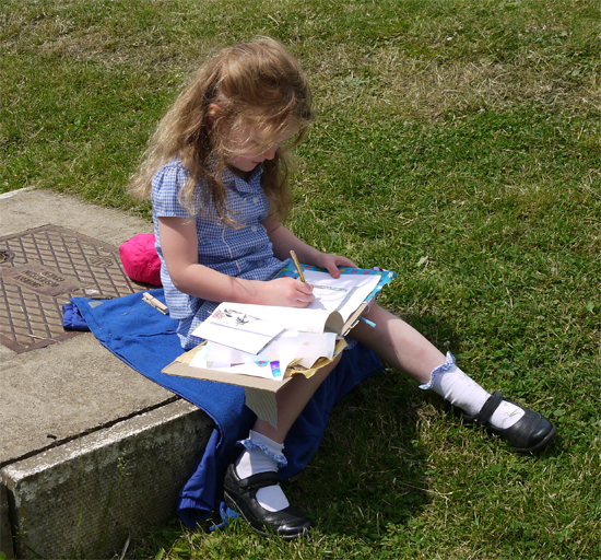 art week: sketching at lunchtimes