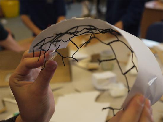 Children were encouraged to think creatively...