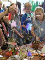 Making treehouse sculptures - a whole school project